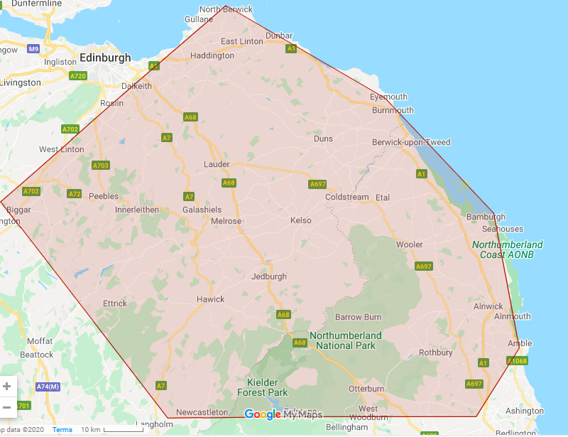 Area of operations Selkirk skip hire
